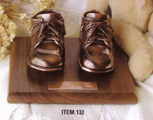 Rader's Engraving - Bronze Baby Shoes