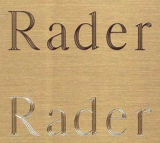 Raders Engraving Brass Signs Or Plates Engraved Burnished
