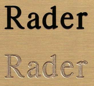 Rader S Engraving Brass Signs Or Plates Engraved